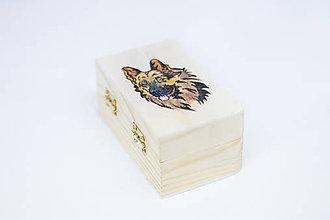 Krabičky - Krabička vzor nemecký ovčiak - 8456788_