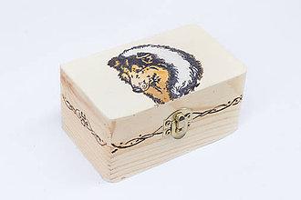 Krabičky - Krabička s motívom dlhosrstej kólie - 8456816_
