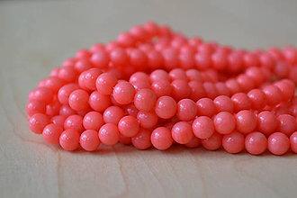 Minerály - Koral ružový 6mm, 0.15€/ks - 8455069_