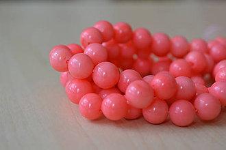 Minerály - Koral ružový 8mm, 0.30€/ks - 8455103_