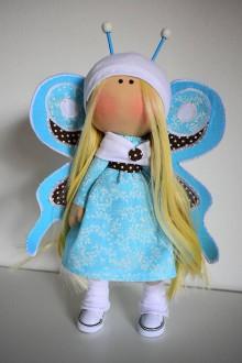 Bábiky - Tyrkysový motýlik - 8460204_