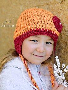 Detské čiapky - Zimná ušianka POPCORN - 8459258_