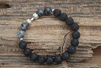 Šperky - Pánsky náramok láva a labradorit - 8457833_