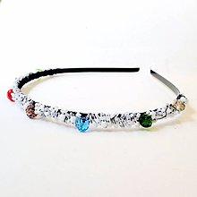 Ozdoby do vlasov - Full of Colors Bridal Headband / Čelenka pre nevestu #0257 - 8458734_