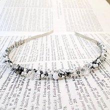 Ozdoby do vlasov - Smooth Silver Headband / Čelenka v strieborných odtieňoch #0257 - 8460293_