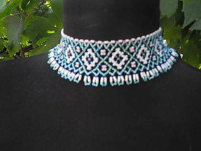 Náhrdelníky - sloviena 8 - šitý náhrdelník - 8457774_