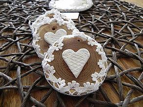 Darčeky pre svadobčanov - Svadobná mini magnetka s menovkou a v čipke:-) - 8459551_
