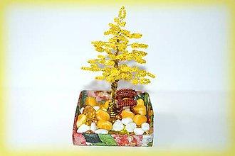 Dekorácie - Korálkový stromček s lavičkou - 8459007_