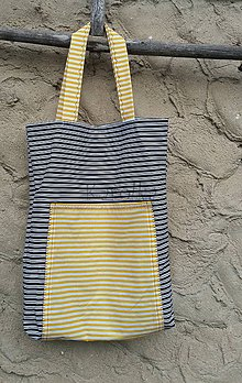 Nákupné tašky - Nákupná taška (Pásik) - 8459851_