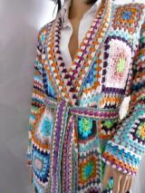 """Svetre/Pulóvre - Bambusový sveter """" Farebná mozaika """" - 8459656_"""