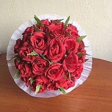 Kytice pre nevestu - svadobná kytica - červené ruže - 8459275_