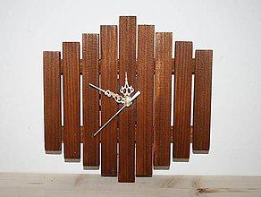 Hodiny - Nástenné hodiny drevené - 8457486_