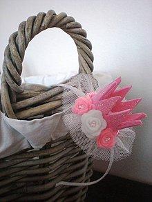 Ozdoby do vlasov - Čelenka s trblietavou korunkou (Maxi- ružová) - 8458660_