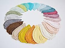 Úžitkový textil - Pletené podložky lístky - modré - 8459565_