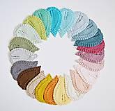 Úžitkový textil - Pletené podložky lístky - modré - 8459573_