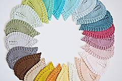 Úžitkový textil - Pletené podložky lístky - modré - 8459578_