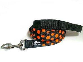 Pre zvieratká - Popruhové vodítko Oranžové bodky - 8458646_