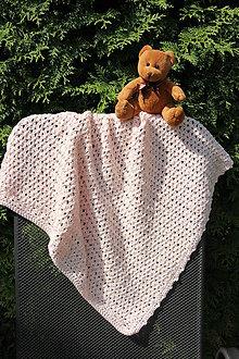 Textil - Háčkovaná deka pro holčičku - 8459233_