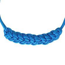 Náhrdelníky - Paracord náhrdelník Natálka- modrý - 8459208_