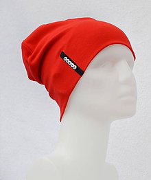 Detské čiapky - Čiapka Elastic červená s menom - 8458232_