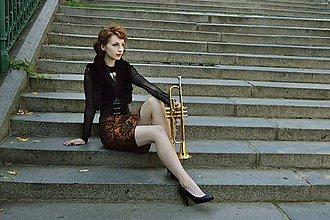 Sukne - Sukňa s barokovým vzorom - 8457856_
