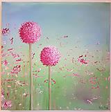 Obrazy - Cesnakové kvety - 8459957_