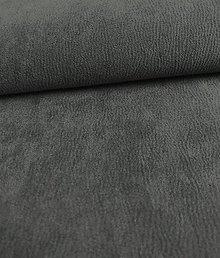 Iný materiál - Toccare esperta (15  brúsená koža - šedá tmavá) - 8460647_