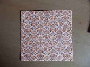 Papier - oranžový vzor - 8457684_