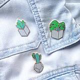 Odznaky/Brošne - Kovový odznačik Kaktus - 8461894_