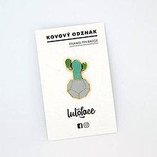 Odznaky/Brošne - Kovový odznačik Kaktus - 8461893_
