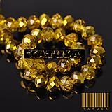 Korálky - Korálky - sklenené brúsené 6x8mm lesklé AB Gold Colorized - 8462717_