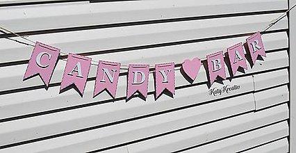 Dekorácie - Candy bar...girlanda - 8462074_