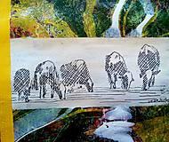 Obrazy - Kravy na paši - 8463929_