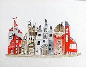 Obrazy - Rozprávkovo 1 - ilustrácia obraz / originál maľba - 8461737_