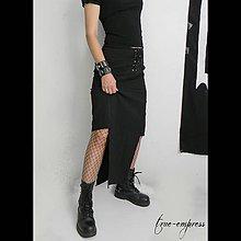 Sukne - Čierna sukňa pre metalistky - 8464065_