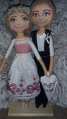 Bábiky - Svadobný pár - 8464081_