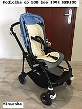 Textil - Bugaboo Seat Liner ARMY by Diesel/ Podložka do kočíka HNEDÁ Camel kaki Elegant prešitie na mieru - 8463942_