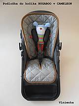 Textil - Bugaboo Seat Liner SOFT PINK fabric/ Podložka do kočíka pastelová ružová Elegant prešitie na mieru - 8463960_