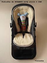 Textil - Bugaboo Seat Liner SAND fabric/ Podložka do kočíka béžová Elegant prešitie na mieru - 8464055_