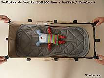 Textil - Bugaboo Seat Liner SAND fabric/ Podložka do kočíka béžová Elegant prešitie na mieru - 8464060_