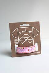 Pre zvieratká - Obojok Aino - ružový s trojuholníkmi - 8461195_