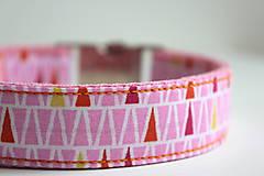 Pre zvieratká - Obojok Aino - ružový s trojuholníkmi - 8461200_