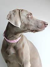 Pre zvieratká - Obojok Aino - ružový s trojuholníkmi - 8461202_