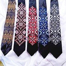 Doplnky - Vyšívaná ľudová kravata Folklor - 8461688_