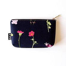 Taštičky - Mimi - Čierna s kvetmi - 8462160_