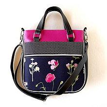 Veľké tašky - Big Sandy - Čierna s kvetmi - 8462171_