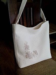 Veľké tašky - Kabelka Lori - biela s výšivkou - 8462530_
