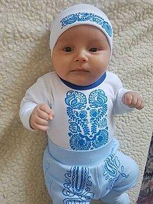 Detské oblečenie - Novorodenecký balíček s ľudovým motívom \