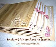 Papiernictvo - Veľký luxusný svadobný fotoalbum na želanie (vyše A4) - 8461279_