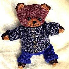 Hračky - Medvídek pletený a ručně vyšívaný - 8462908_